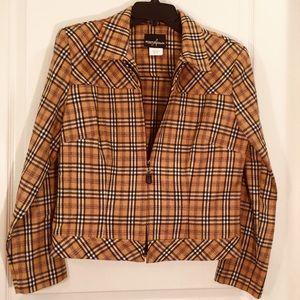 Positive attitude size 12 plaid jacket only